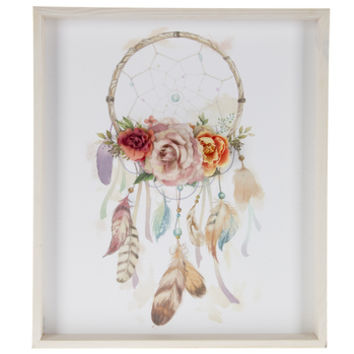 Dreamcatcher With Flowers Wood Wall Decor | Hobby Lobby | 1802115