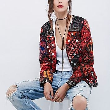 Free People Womens Folk Rock Jacket