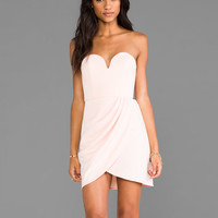 Shona Joy The Obsession Strapless Mini Dress in Ballet