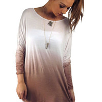 In Gradient Demand Tunic Top- Taupe | MACA Boutique