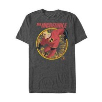 The Incredibles Mr. Incredible Disney Pixar Licensed Adult Unisex T-Shirt - Grey