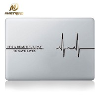 Mimiatrend Electrocardiogram Laptop Decal Sticker for Apple Macbook Sticker Pro Air Retina 11 13 15 inch Notebook Cover Skin