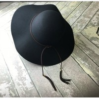 Braided Band Floppy Hat