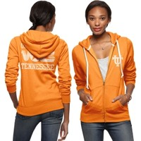 Tailgate Women's Tennessee Volunteers Light Orange Full-Zip Hoodie - Dick's Sporting Goods