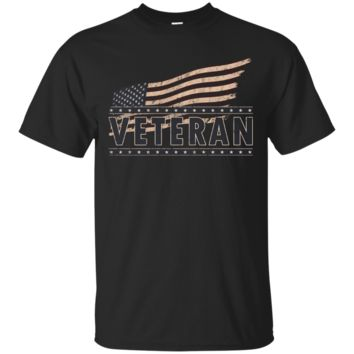 Veteran Shirts of Honor American Flag Distressed Graphic Tee