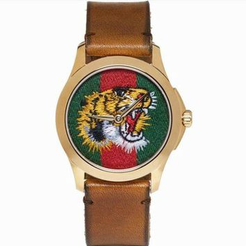 Kalete GUCCI Ladies Fashion Bee Embroidery Watch Business Watches Wrist Watch