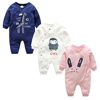 New year Baby Newborn clothes Baby Romper Autumn Winter Long Sleeves 100% Cotton Baby Boy girl Clothes Overalls infan jumpsuit