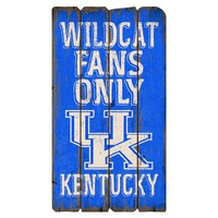 Legacy Athletic Kentucky Wildcats Plank Sign (Blue)