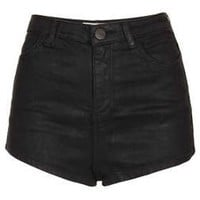MOTO Coated Denim Shorts - Shorts - Clothing - Topshop USA