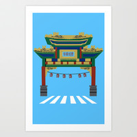 Chinatown  Art Print by PussyCatTees