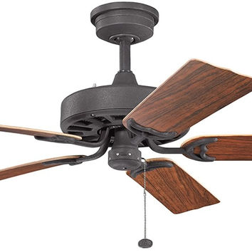 0-003094>Fryst Patio Distressed Black Ceiling Fan