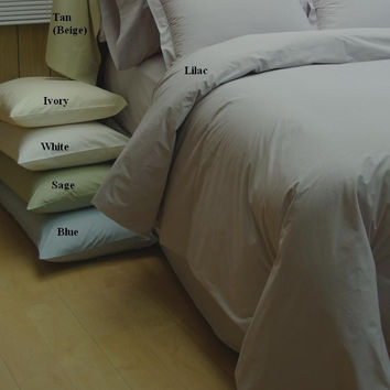 10-PC Combed cotton Percale Down Alternative Bed in a bag