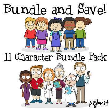 BUNDLE Clip Art, Cartoon Kid Download, Girl Clip Art png, Boy Clip Art png, Teacher Clip Art, Schoolhouse Clipart, Kid Graphics, School PNG