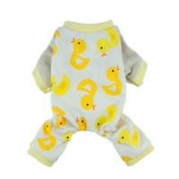 Fitwarm Duck Dog Pajamas/Clothes, Jumpsuit, Medium