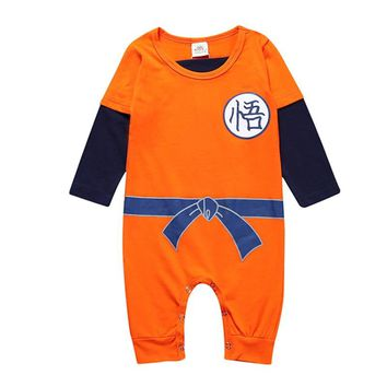 New Baby Boys Clothes Jumpsuit Newborn  SUN GOKU Toddler Bebes set  Halloween Costumes Baby Boy Girl Clothes TZ001