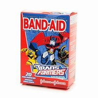 Band-Aid - Children's Adhesive Bandages, Transformers, Assorted Sizes