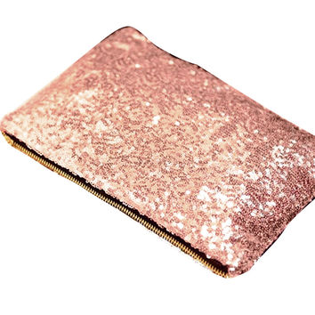 Shiny Day Clutches Women Party Evening Bag Handbags Purse Makeup Bags For Fashion Ladies Women Bag Day Clutches Gold Sliver Pink