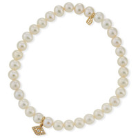 Sydney Evan Diamond Eye & Beaded Pearl Bracelet