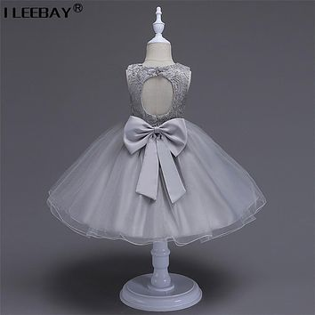 Fashion 2017 Baby Cute Clothes Girls Evening Dress Children Wedding Lace Costume Flower Girl Princess Tutu Dress Kids Vestido