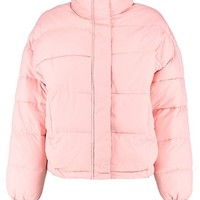 Tegan Funnel Neck Quilted Jacket | Boohoo