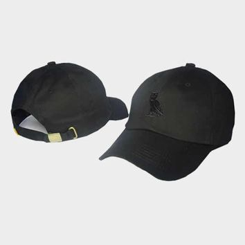 cc auguau OVO Octobers Very Own Owl All Black Hat