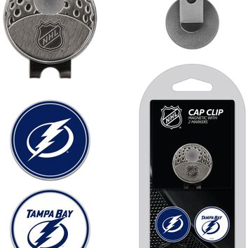 NHL Tampa Bay Lightning Hat Clip & 2 Magnetic Golf Ball Markers