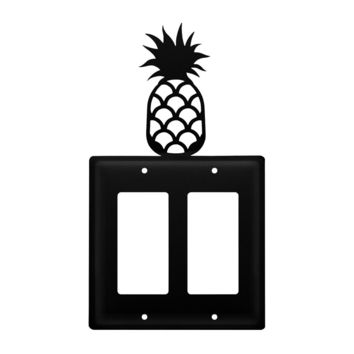 Wrought Iron Pineapple Double GFCI Cover
