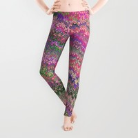 Mirrored Symmetry Multicolored 1 Leggings by J&C Creations