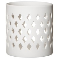 Threshold™ Perforated Ceramic Candle Holder - Diamond 4""