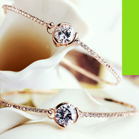 Exclusive Diamond Rhinestone Bangle