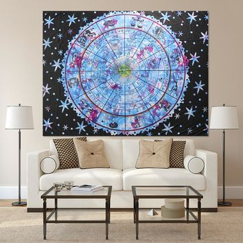 Multi-functional Astrology Beach Towel Cape Tapestries Wall Hanging Bedspread Blanket Bohemian Tablecloth Room Dorm Decor