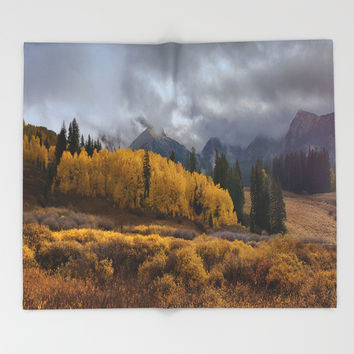 Colorado Fall Colors 2 Throw Blanket by Lena Owens/OLenaArt
