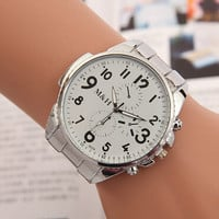 Comfortable Vintage Fashion Quartz Classic Watch Round Ladies Women Men wristwatch On Sales = 4661749060