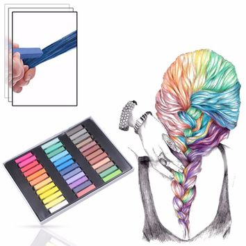1Set Temporary Color Dye Hair Chalk Sexy Master Pastels Hot Color Non-Toxic or DIY Beauty Hair Style