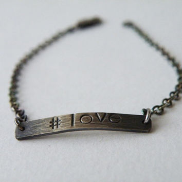 Friendship Bracelet Sterling Silver Personalized Bracelet Custom Charm Bracelet by SteamyLab