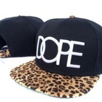 leopard DOPE fashion Snapback hat