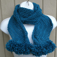 Ready to Ship - Womens Scarf - Womens Accessories - ZigZag Scarf in Midnight Blue - Gifts for Her