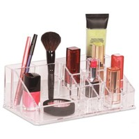 Clear 16 Compartment Cosmetic Organizer
