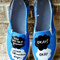 The Fault In Our Stars Hand Painted Canvas Shoes (made to order) FREE SHIPPING