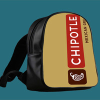 chipotle mexican grill for Backpack / Custom Bag / School Bag / Children Bag / Custom School Bag *