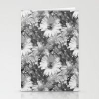 Gray Daisy Stationery Cards by KCavender Designs