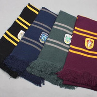 Harry Potter Gryffindor/Slytherin/ravenclaw/Hufflepuff Wool Knit Thicken Neck Scarf Wrap Soft