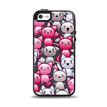 The Cute Abstract Kittens Apple iPhone 5-5s Otterbox Symmetry Case Skin Set