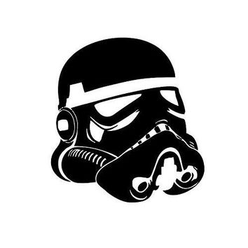 Star Wars Stormtrooper Head Wsll Helmet Vinyl Decal Sticker for Car Window Wall Truck, Room