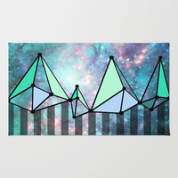 Intergalactic mountains (collab) Rug by Barruf Designs