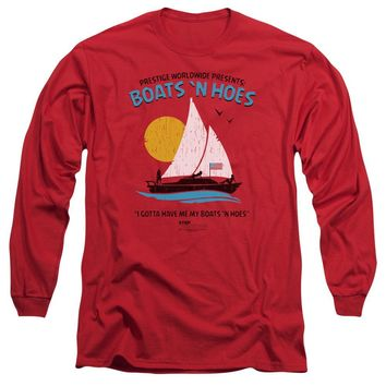 Step Brothers Long Sleeve T-Shirt Boats N Hoes Red Tee