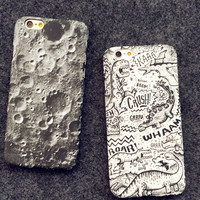 Cool Moon Dinosaur iPhone 5se 5s 6 6s Plus Case Cover + Nice Gift Box