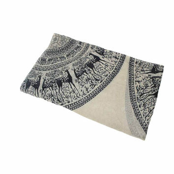 Women Sika Deer Scarf aututmn From India poncho Scarves Wrap Shawl Natural And Fresh Four Seasons CF