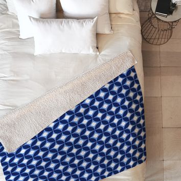 Caroline Okun Indigo Fleece Throw Blanket