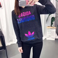 """Adidas"" Hooded Pullover Tops Sweater Sweatshirts"
